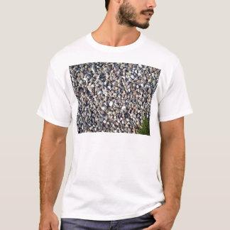 Camiseta Texturas da planta de pedra e verde