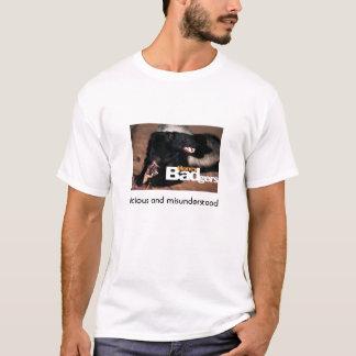 Camiseta texugo de mel 3, vicioso e entendido mal