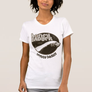 Camiseta Texugo de mel Badass bonito (luz)