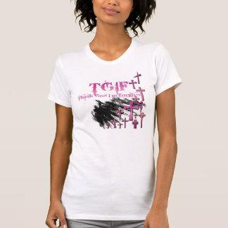 Camiseta TGIF = deus do obrigado eu sou perdoado