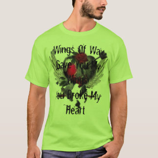 Camiseta th_thbrokenherat, asas de WaxGave você minhas