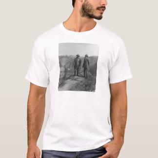 Camiseta Theodore Roosevelt e John Muir no ponto da geleira