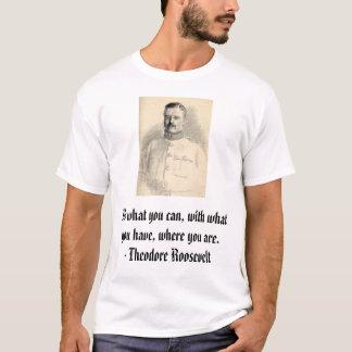 Camiseta Theodore Roosevelt, faz o que você pode, com que…