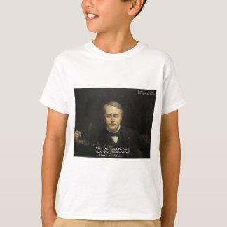 """Camiseta Thomas Edison de """"presentes das citações da"""