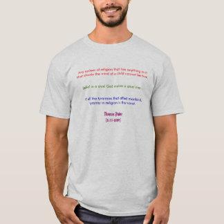 Camiseta Thomas Payne na religião