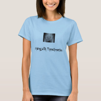 Camiseta throckmorten, mim penduram com Throckmorton