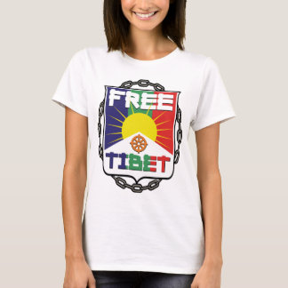 Camiseta Tibet livre acorrentado