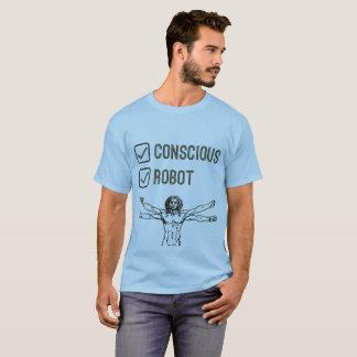 Camiseta Tickbox consciente & do robô - t-shirt