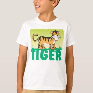 Camiseta Tigre amigável do miúdo