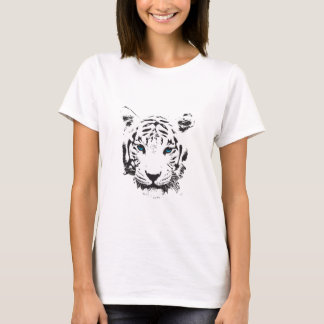 Camiseta Tigre branco com olhos azuis