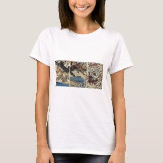 Camiseta Tigre de combate etc. do samurai cerca de 1800's