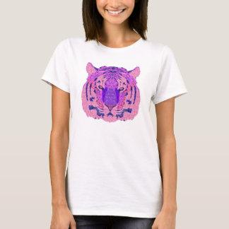 Camiseta Tigre geométrico roxo