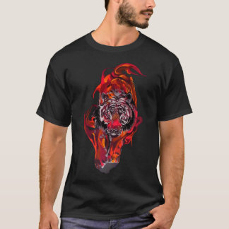 Camiseta Tigre vermelho