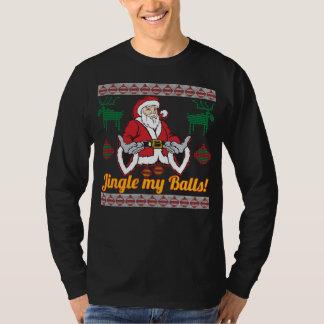 Camiseta Tinir minha camisola feia do Natal de Papai Noel