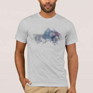 Camiseta Tinta moderna cinzenta do Fox