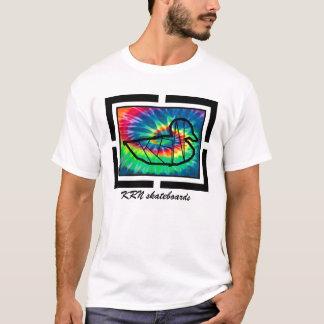 Camiseta Tintura do laço da série do design dos skates de