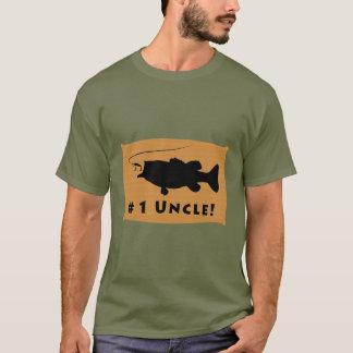 Camiseta Tio do número um com baixo Largemouth