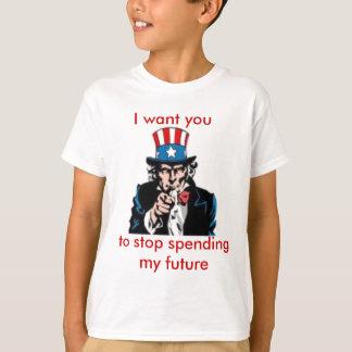 Camiseta tio Sam, eu quero-o, parar de passar meu futuro