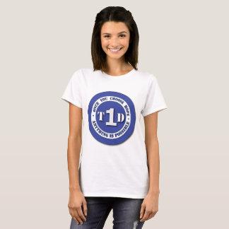 Camiseta Tipo - 1 protetor do diabetes