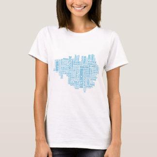 Camiseta Tipo azul mapa de maior Manchester
