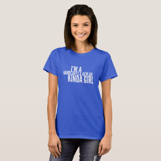 Camiseta Tipo das algemas e do Kevlar da menina