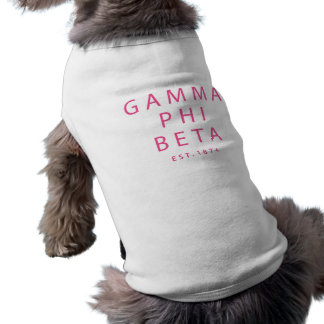 Camiseta Tipo moderno da phi da gama beta