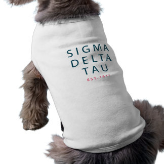 Camiseta Tipo moderno da tau | do delta do Sigma