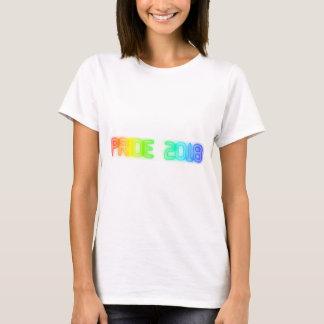 Camiseta Tipografia 2018 da bandeira do arco-íris do