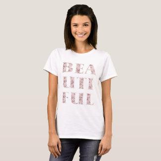 Camiseta Tipografia bonita chique