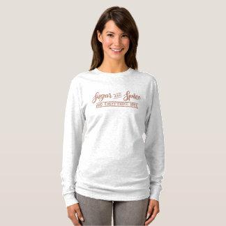 Camiseta Tipografia cor-de-rosa do brilho do ouro do açúcar