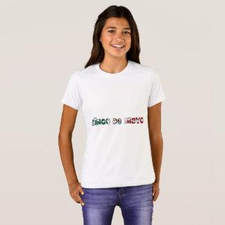 Camiseta Tipografia da cor da bandeira mexicana de Cinco de