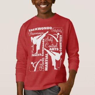Camiseta Tipografia da terminologia das artes marciais de