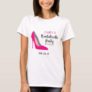 Camiseta Tipografia de Bachelorette dos calçados do salto