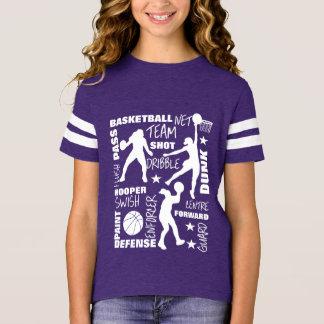 Camiseta Tipografia de SportsTerminology do basquetebol das