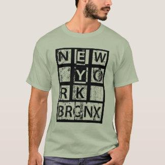 Camiseta Tipografia do Grunge de Bronx New York |