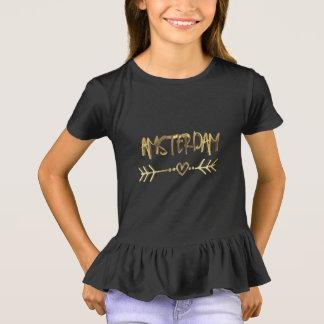 Camiseta Tipografia do olhar do ouro do preto do amor de