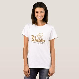 Camiseta Tipografia do ouro a lembrança da madrinha