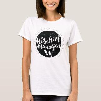 Camiseta Tipografia dos encantos do mapa do Marauder de