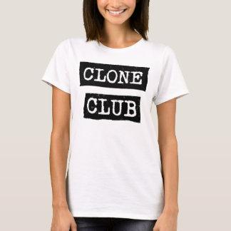 Camiseta Tipografia órfão do clube do clone do preto |