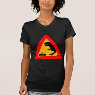 Camiseta Tiranossauro de advertência Rex