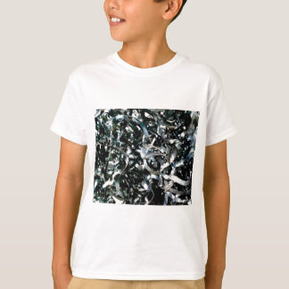 Camiseta tiras do metal do lixo
