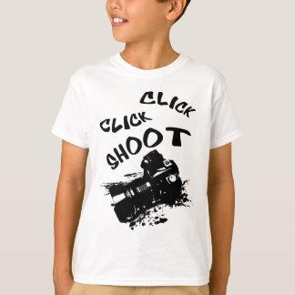 Camiseta Tiro do clique do clique