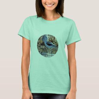 Camiseta Tiro do Fim-Acima de um único Avocet com rebanho