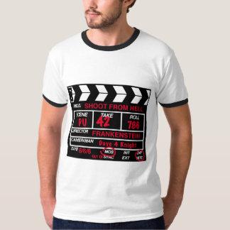 Camiseta Tiro do t-shirt da ardósia da câmera do inferno
