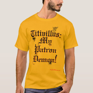 Camiseta Titivillus: Demónio do consumidor com tinta