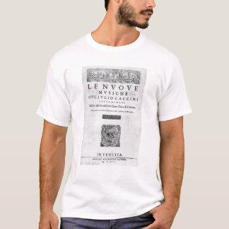 """Camiseta Titlepage de """"Nouve Musiche"""" por Giulio Caccini"""