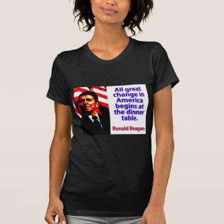 Camiseta Toda a grande mudança em América - Ronald Reagan