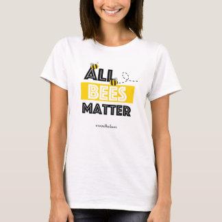 Camiseta Toda a matéria das abelhas - economias de Hashtag
