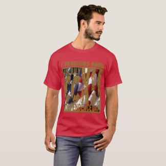 Camiseta toda sobre o fogo-de-artifício