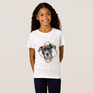 """Camiseta """"Todas as orelhas"""" pintura da aguarela do cão de 2"""